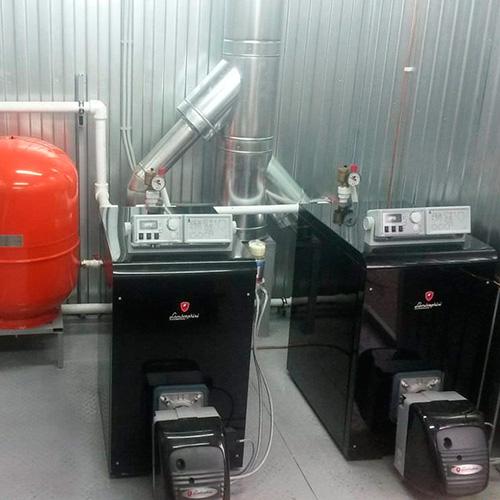 Монтаж котельной, установка напольного котла Lamborghini до 40 кВт