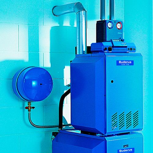 Монтаж котельной, установка напольного котла Buderus мощностью до 40 кВт