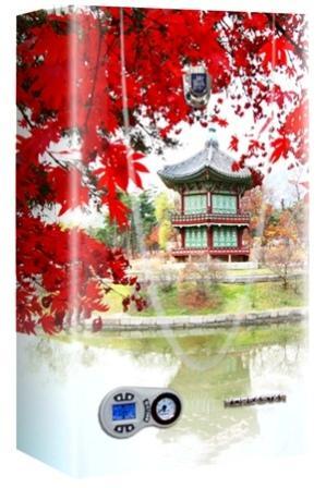 Газовый настенный котел Koreastar Premium-24 E Turbo с аэрографией - Красные листья